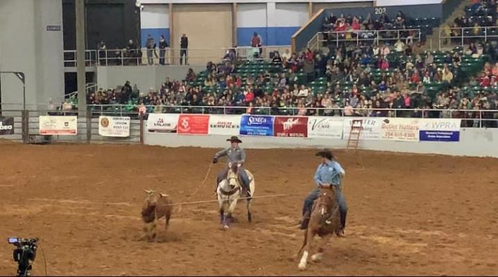 Congratulations to Carson Emmons and his brother Cooper Emmons for placing third in Team Roping at the Bell County Kids Rodeo last week.