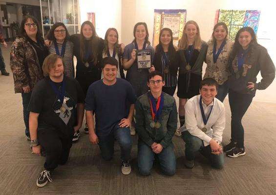 The District 17AA UIL OAP contest was held March 5 at the Temple Cultural Activities Cultural.