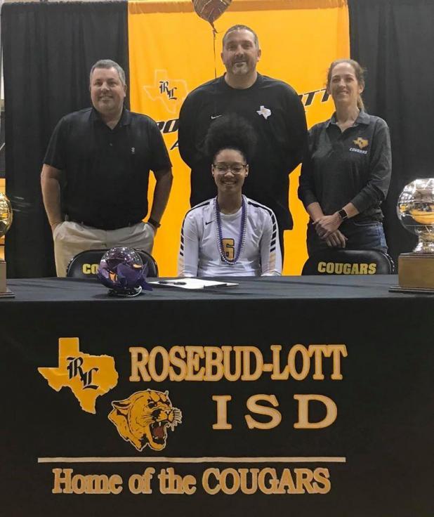 Rosebud-Lott I.S.D. Senior Erakah Easley signed a letter of intent to Ranger College for volleyball