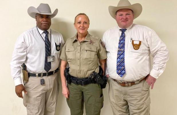 Deputies Linda Mauldin and Case Channon (not pictured) were introduced to Commissioners Court on Feb. 10.